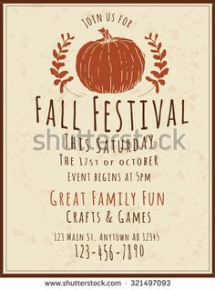 Fall Flyer  Fall    Flyers And Fall