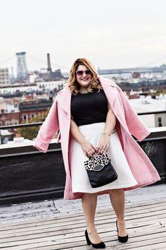 Blogger Nicolette Mason is pretty in pink