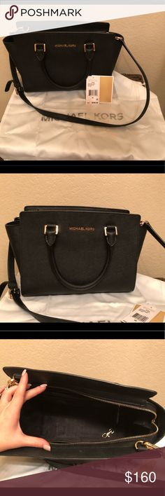 Michael Kors Selma Medium size.. pre loved but in great condition! If you want to see specific pics ask and I will post for you! Michael Kors Bags Shoulder Bags