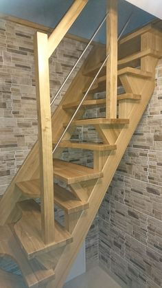 Attic stairs with the left and right style steps. Loft Stairs, Attic Staircase, Attic Ladder, House Stairs, Staircase Design, Attic House, Attic Closet, Garage Attic, Attic Conversion Bedroom