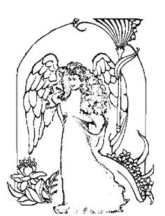 butterfly coloring pages free printable   colouring   pinterest ... - Coloring Pages Beautiful Angels