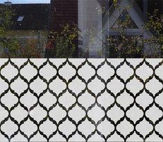 Geometric Window Decal Abstract Geometrical Window by MUSTERLADEN   window privacy film  decorative privacy film window decal sichtschutz folie dekorativer sichtschutz fensterfolie etched window film frosted window film