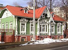 Russian houses | old wood house photo of traditional russian wood house in perm russia