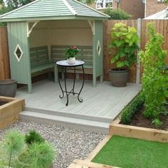 Small Backyard Design, Small Backyard Landscaping, Patio Design, Backyard Patio, Backyard Ideas, Garden Ideas, Landscaping Ideas, Back Garden Design, Pergola Patio