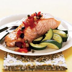Salmon Provençal with Zucchini- Sounds fancy, super easy (: