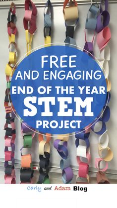 Congratulations you have almost made it to the end of the school year! Have some fun with this FREE end of the year STEM challenge! End Of Year Activities, Steam Activities, Science Activities, Science Fun, Science Ideas, Free Activities, Earth Science, Summer Activities, Elementary Teacher