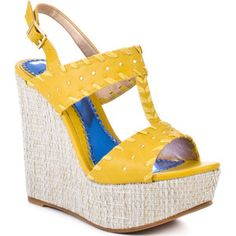 Luichiny Women's An Dree A Wedge - Yellow