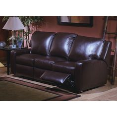 Found it at Wayfair - Mirage Leather Reclining Sofa