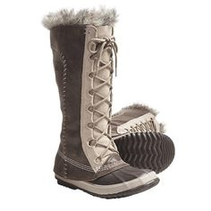 Sorel Cate the Great Pac Boots - Waterproof, Insulated (For Women) in Tusk/Stone
