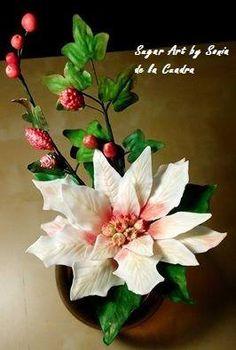 Gum Paste Poinsettia