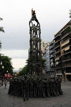 monument als Castellers, Rambla Nova, Tarragona.