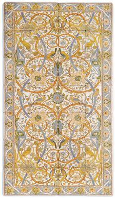 rug made of tile = kid friendly Impressionists - Mission Tile West