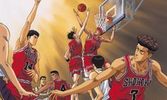 Here's 8 of so many reasons why Slam Dunk is a well-loved series and why it's by far the greatest sports anime/manga ever created of all time. Slam Dunk Manga, Basketball Anime, Basketball Teams, Football Players, Bola Nike, Mega Anime, Girls Football Boots, Inoue Takehiko, Last Game