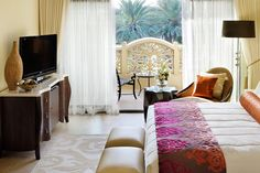 Situated along Dubai's coastline, the One&Only Royal Mirage provides luxury accommodation with beautifully designed architecture.