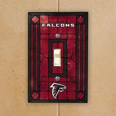 Atlanta Falcons Red Art-Glass Switch Plate Cover-Daniel's Lion's Den idea