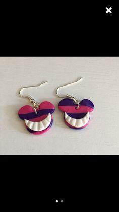 Alice and wonderland polymer clay earrings Disney