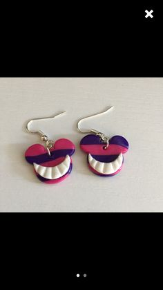 Alice and wonderland polymer clay earrings Disney
