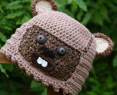 Star Wars Ewok crochet beanie No link - Inspiration only