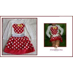 CONJUNTO MINNIE FALDA ROJA Minnie, Apron, Fashion, Red, Skirts, Style, Moda, Fashion Styles, Fashion Illustrations