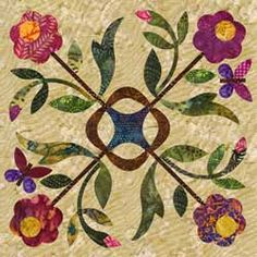 Over the Rainbow SPRING BOUQUET Block 8 By Laundry by donellefritz, $21.43