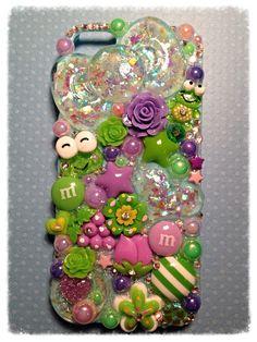 Green & Purple Opal  iPhone 5 Kawaii Decoden Case by KreativeKoala