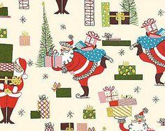 50 Atomic Christmas Santa Fabric Pillow Vintage | eBay
