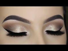 Silver Glitter Smokey Cut Crease Tutorial - YouTube