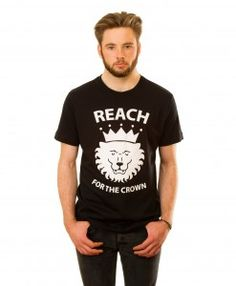 Crowned Lion T-shirt in Black