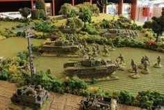 """[TMP] """"Battlegroup Overlord Demo at the Hobbyden - Pics"""" Topic Wargaming Table, Wargaming Terrain, Bolt Action Game, Bolt Action Miniatures, Fantasy Battle, Modeling Techniques, Military Modelling, Military Diorama, Train Layouts"""