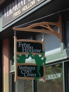 The sign for Frog Hollow is finally finished and installed!!