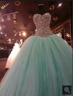 Fashion Pink Tulle With Crystal prom Dresses 2016 Vestido Debutante Ball Gown Mint Green Prom Dress For 10 Years