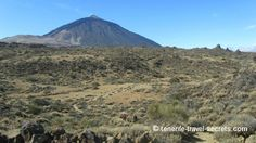 View of the Teide from the route La Fortaleza
