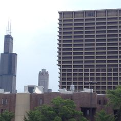 Willis Tower and UIC Chicago Places To Visit, Places To See, Willis Tower, Skyscraper, The Neighbourhood, Multi Story Building, Sweet Home, Skyscrapers, The Neighborhood