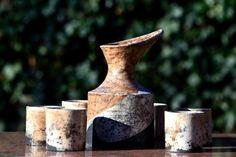 Wijnstel raku gestookt keramiek
