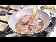 de lekkerste biefstuk met champignonroomsaus maken, maar weet je niet hoe je het moet doen? Dit wordt wel heel gemakkelijk met dit kookfilmpje van Jumbo. Meer kookvideo's vind je op: http://www.jumbosupermarkten.nl/kookvideos