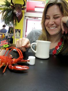 Amy Picks Squeak Lobster!