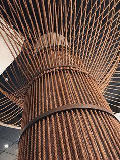 Rope Tree installation by Windy Chien, Satellite Of Love, Maldives Resort, Column Design, Mirror Lake, Menlo Park, Art Story, Fox Design, Light Installation, Architecture Design