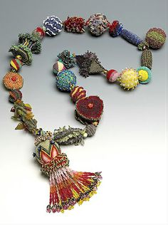 ~~Possibility ~ Seed Bead Necklace by Yoshi Marubashi~~ Her work is amazing! Curleytop1.