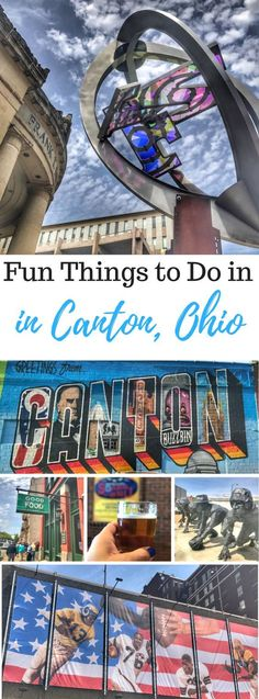 Fun things to Do in Canton - Adventure Mom - Brittaney Jones - Fun things to Do in Canton - Adventure Mom Fun things to Do in Canton, Ohio. Find out what there is do in the area in addition to the Pro Football Hall of Fame. Ohio Memes, Ohio State Vs Michigan, Put In Bay Ohio, Travel Photographie, Football Hall Of Fame, Us Destinations, Day Trips, Weekend Trips, Travel Posters
