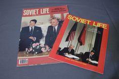 Soviet-Life-Magazine-2-Issues-Reagan-Gorbachev-Moscow-Washington-Summit-87-88