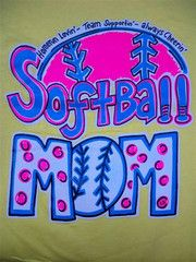 Southern Chics Funny Softball Mom 2 Sweet Thing Girlie Bright T Shirt | SimplyCuteTees
