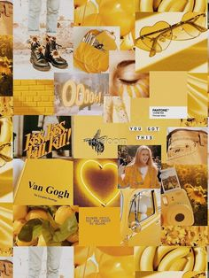 Yellow Aesthetic Collage iPhone Case & Cover