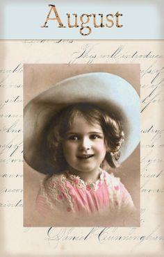"""Victorian """"Calender Girls"""" ~ August"""