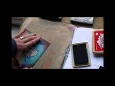 Gelli plate technics for beginners, Tutorial 1 - YouTube