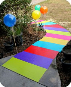 get PEP to do carpeted color squares for path entry into event- could do in Wiggles colors