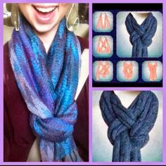 different way to tie a scarf!  #WhatYaWearinWednesday