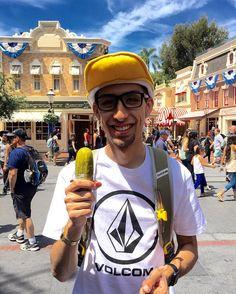 I got a pickle I got a pickle I got a pickle hey hey hey hey #littlerascals #pickles #donaldduckhat #disneyland by isaiahokufernandez