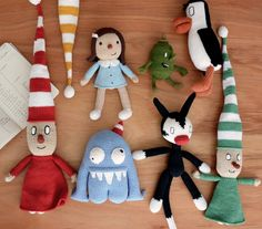 Liniers por Pica-Pau para Monoblock :) (duendes, Enriqueta, Fellini, Olga, Oliverio & pingüinos)