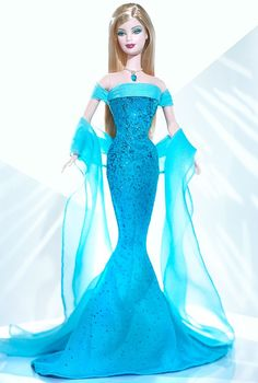 Looking for the December Turquoise Barbie Doll? Immerse yourself in Barbie history by visiting the official Barbie Signature Gallery today! Barbie Gowns, Barbie I, Barbie World, Barbie Dress, Barbie And Ken, Barbie Clothes, Barbies Dolls, Barbie House, Barbie Website