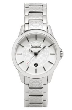 COACH 'Classic Signature' Bracelet Watch available at #Nordstrom